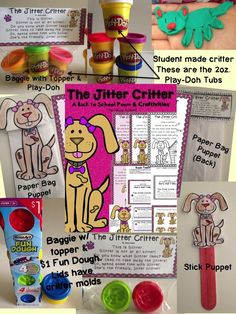 The Jitter Critter is the perfect poem to help your students forget about their first day Jitters. This 20 page packet includes 1 poem (two different versions) in color & b/w, 2 different baggie toppers, and 2 craftivities. This poem will make the first d Back To School Poem, Beginning Of School, 1st Day, First Day Of School, Poems About School, First Day Jitters, Play Doh, Teacher Pay Teachers, Forget