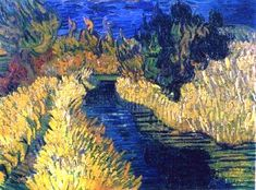 The Little Stream - Vincent van Gogh, 1890