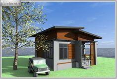 แบบบ้านโมเดิร์นชั้นเดียวงบ5แสน MD06 One Floor House Plans, Modern Loft, Gazebo, Outdoor Structures, Flooring, Kiosk, Pavilion, Modern Lofts, Wood Flooring