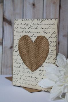 Rustic Heart Card Valentine's Day Anniversary by ANavyHeart