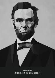 Abraham Lincoln Low Poly Portrait