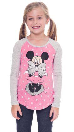 Minnie Mouse Polka Dot Girls Long Sleeve T-Shirt