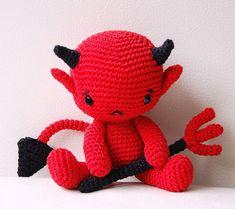 Patrón de amigurumi - bebé diablo