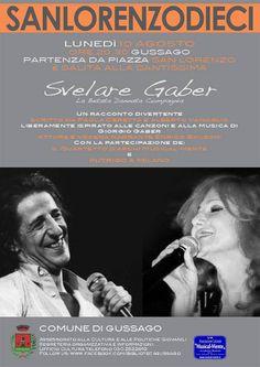 "Sanlorenzodieci: lunedì 10 agosto spettacolo ""Svelare Gaber"" - http://www.gussagonews.it/sanlorenzodieci-spettacolo-svelare-gaber-agosto-2015/"