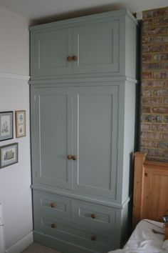 Grey Painted Wardrobe - https://menterarchitects.com/furniture/grey-painted-wardrobe