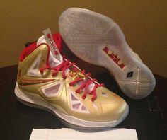 huge discount 913f5 89ad4 nike lebron x gold championship on ebay 09 Nike LeBron X Ring Ceremony PE  Available on eBay