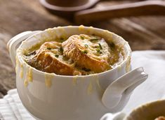 French Onion Soup  (add a good beer or wine to the pan to de-glaze its always better that way.)
