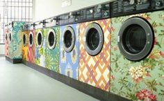 Vintage styled idea for large, unsightly home appliances.
