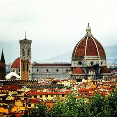 Florence Italy climbed to the top of the dome, twice!