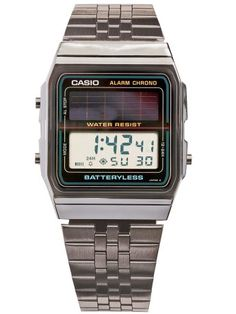 Casio Batteryless Solar Stainless Steel Digital Watch | Casio | Watches' All Items | American Apparel