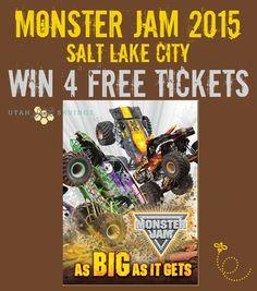 Simple Online Savings, Travel Tips, and Utah Events for the Family Monster Truck Jam, Random Stuff, Kid Stuff, Activity Days, Salt Lake City, Summer Activities, Games For Kids, Giveaways, Utah