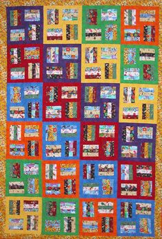 Quilt Patterns by Precious Tyes. Patterns are fun, bright, intriguing and easy to accomplish. They are pieced, appliqued and scenic art patterns and include fabric books and baby quilts Jellyroll Quilts, Scrappy Quilts, Charm Square Quilt, I Spy Quilt, Postage Stamp Quilt, Quilt Block Patterns, Quilt Blocks, Quilt Of Valor, String Quilts