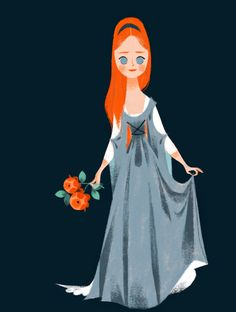could be a young sansa Character Design Girl, Character Design Animation, Character Design References, Character Design Inspiration, Character Art, Character Sketches, Children's Book Illustration, Character Illustration, Graphic Design Illustration