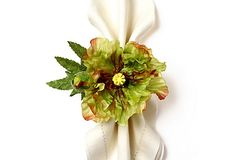 Autumn Poppy Napkin Ring, Green on OneKingsLane.com, Deborah Rhoades