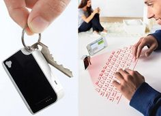 Virtual Keyboard Fits on Your Keychain