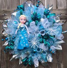 Frozen Party, Elsa Party, Frozen Decor, Elsa Decor, Frozen Wreath, Just Let It Go Already on Etsy, $129.00