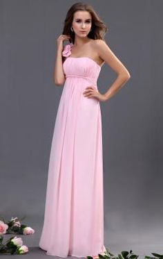 Pretty Long Pink Tailor Made Evening Prom Dress(BNNAK0046) http://www.marieprom.co.uk/