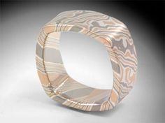 James Binnion Metal Arts LCC Mokume Gane square ring