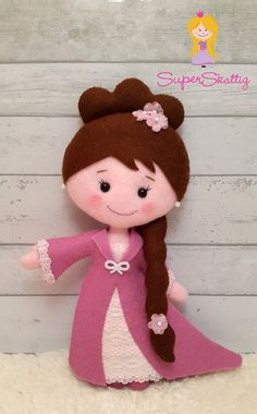 Fieltro patrones princesa Emma Pilot patrón muñeca por SuperSkattig