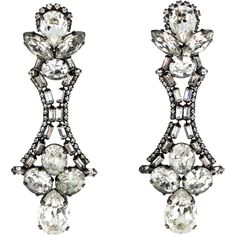 Pre-owned Erickson Beamon Crystal Drop Earrings (655 SAR) ❤ liked on Polyvore
