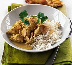 Not sure what to make for dinner? This light chicken korma recipe is easy and delicious. Find more dinner inspiration at BBC Good Food. Chicken Korma Recipe, Chicken Masala, Bbc Good Food Recipes, Indian Food Recipes, Healthy Recipes, Duck Recipes, Healthy Snacks, Baked Chicken, Healthy Chicken
