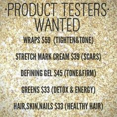 You will get the products at MY price for 3 months! And then give me an honest review! That's IT!!  317.457.6154 contact me for more info!!!  www.aferraro.myitworks.com