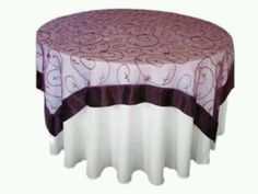 Purple topper for wedding tables