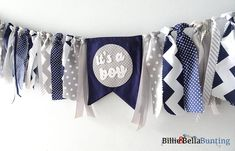 Baby Boy Shower decorations Its a boy banner by BillieBellaBunting