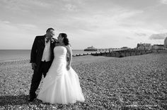 Romance on the beach. Taken by Mark Huntley Wedding Photography www.markhuntley.co.uk #Eastbourne #EastSussex