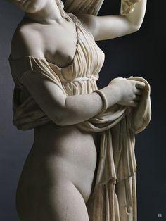 Venus Callipyge - Aphrodite Kallipygos. 1st.century AD. Roman. marble. National Archaeological Museum. Naples.