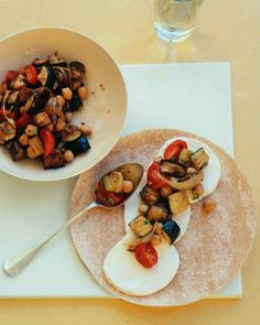 """The vegetable filling for this wrap takes its cues from the classic Provencal stew. Soluble fiber in eggplant and chickpeas may reduce LDL (""""bad"""") cholesterol; lycopene in tomatoes can help protect against cancer."""