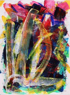ARTFINDER: Through the tempest 1 by Nestor Toro - Vivid painting with organic shapes many colors and fast changes in contrasts. Painted on 300g cold press gallery paper.