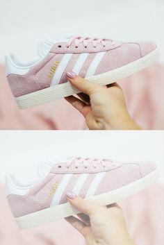 Adidas Gazelle trainers in wonder pink with free UK delivery. Powder Pink, Adidas Gazelle, Baby Blue, Trainers, Sportswear, Adidas Sneakers, Feels, Fashion, Moda