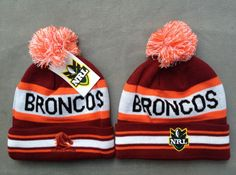 NRL Knit Hats 024 BRONCOS Beanies Hats 8107! Only $7.90USD