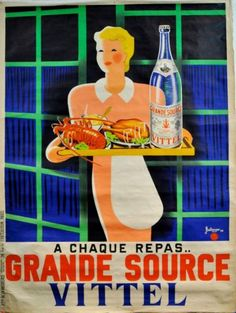 """BELLENGER VITTEL """"GRANDE SOURCE"""". 1938 Imprimerie La Vasselais, Paris -"""
