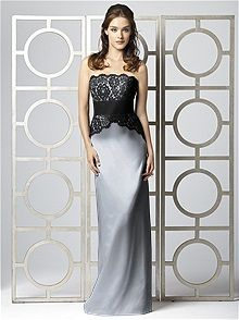 Dessy Collection Style 2849 #gray #bridesmaid #dress