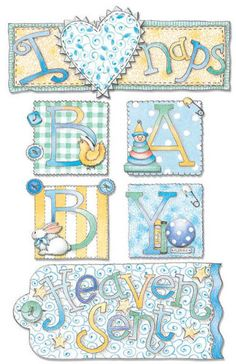 DECO POUR BB - card embelies for baby boy card