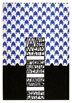 Wiener Werkstatte, exhibition poster.