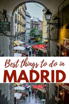 Best things to do in Madrid during a short trip. Including one of the best Flamenco show, delicious Tapas, Hotels, Museums and day trips from Madrid Europe Destinations, Europe Travel Tips, Travel Guides, Travel Trip, Travel Advice, Spain And Portugal, Portugal Travel, Portugal Trip, Malaga