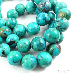 13 to 15mm TURQUOISE Nugget Beads Smooth 13 by TheLuxuryBeadShop