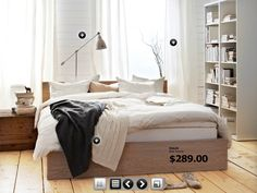Ikea bedroom - combo wood colors