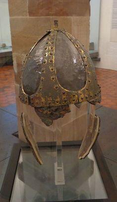 C6th, Merovingian Spangenhelm from Baldenheim, Alsace (NE France), found July 1902. Now at Musée de Strasbourg Archaeological More views: http://commons.wikimedia.org/wiki/Category:Baldenheim_helmet