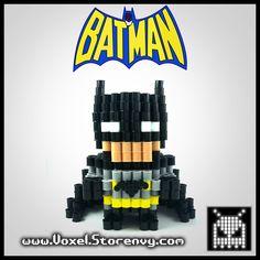 Black batman 3d voxel perlerbead (#batman, #dccomics)