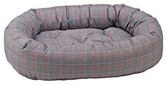 Donut Bed in Polo Plaid Fabric Large: 55 x 35 x 11 in.) ** To view further for this item, visit the image link. (This is an affiliate link and I receive a commission for the sales) Small Dog House, Dog Beds For Small Dogs, Cool Dog Beds, Heated Pet Beds, Dog Kennels For Sale, Cool Dog Houses, Bolster Dog Bed, Plaid Fabric, Bed Furniture