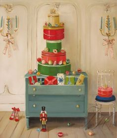 """""""Deck The Hatboxes"""" by Janet Hill"""