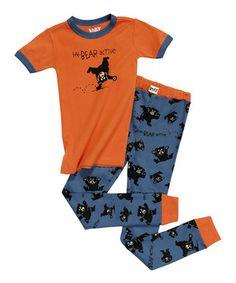 Look what I found on #zulily! Orange 'Hy-Bear Active' Pajama Set - Toddler & Boys by Lazy One #zulilyfinds