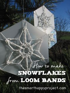 Next stop: Pinterest How To Make Snowflakes, Loom Bands, Step By Step Instructions, Posts, Sewing, Create, Happy, Messages, Costura