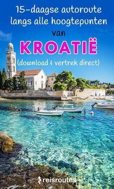 Met de wagen op roadtrip door Kroatië? Download de rondreis met kaart + GPS, Zagreb en Dubrovnik, met de wagen. Een kant-en-klare rondreis Kroatië, van Istrië tot Dalmatië. #roadtrip croatia #rondreiskroatie #kroatie #hvar #highlights #reisroutes Places To Travel, Places To See, Rocky River, Lets Run Away, Europe Bucket List, Road Trip Europe, City Wallpaper, Europe Destinations, Round Trip