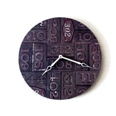 Unique Wall Clock Rustic Clock Recycled Art  Decor by Shannybeebo, $50.00