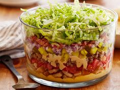 Nine-Layer Cheeseburger Dip Recipe : Food Network Kitchens : Food Network - FoodNetwork.com